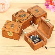 Memory Box Decorating Ideas Party Gift Wooden Mini Hand Crank Sankyo Music Box Memory Retro 31