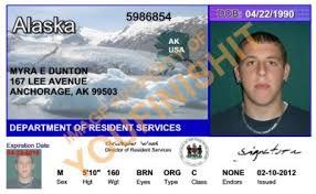 Card Alaska Id Id Od Alaska