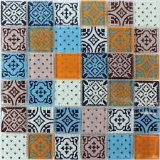 Glas Mosaik Fliesen Barock Ornament Bunt Mix - DS33356