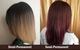 demi vs semi permanent hair color know
