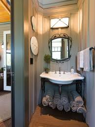 fit the most storage into a small bathroom