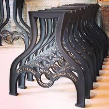 industrial coffee table legs live edge slab cast iron bench walnut set full size