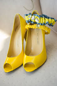 Light Yellow Wedding Shoes Real Wedding Garter Ashleys Yellow Gray Sparkle
