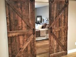 reclaimed wood sliding barn doors
