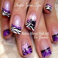 15++ Purple Black Nail Designs