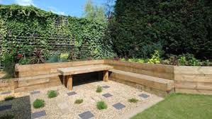 Small Picture Garden Design Using Railway Sleepers