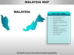 Malaysia Country Powerpoint Maps Powerpoint Slide Clipart
