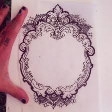 antique mirror frame tattoo. Exellent Antique 612x612 Frame Tattoo INK Inside Antique Mirror Frame Tattoo T