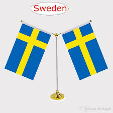 Flag Chart With Names New Fashion Sweden National Flag Table Flag With Stainless Steel Standard Your Logo Are Welcome 14 21cm Y Style