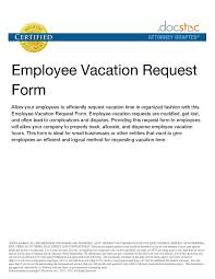 vacation forms for employees employee vacation request forms best of top vacation request form