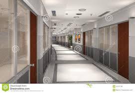 office hallway. 3D Modern Office Hallway