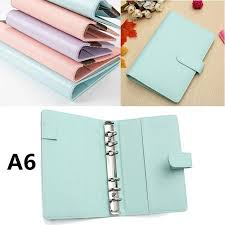 A6 Loose Leaf Notebook Cover Leather Organizer Agenda Planner Ring Binder 7 5x5 1