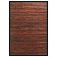 cobblestone mahogany brown with black border 2 ft x 3 ft area rug cobblestone