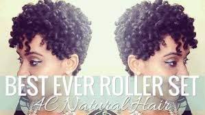 twist rollers on natural hair