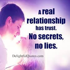 A Real Relationship Has Trust Delightful Quotes Gorgeous Trust In Relationships