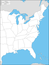 interactive eastern us map east coast of the united states free