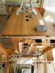 comfortable home office graphic design station. Contemporary Home Tack Wires Under Your Table For Comfortable Home Office Graphic Design Station