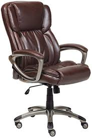 T Serta Works Executive Office Chair Bonded Leather Brown
