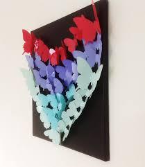framed wall art decor ideas make colorful 3d paper hearts  on 3d paper heart wall art with diy wall art decor ideas 2015