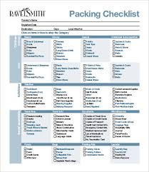 Packing Lists For Vacation 9 Free Word Pdf Documents
