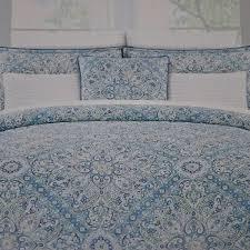nicole miller bedding 3 piece full queen duvet cover set geometric paisley pattern