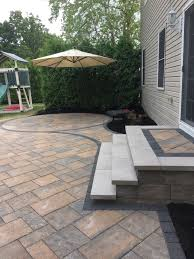 concrete patio with square fire pit. Square Paver Patio With Fire Pit Raised 600sf A 120k Btu Natural Innovative Concrete O