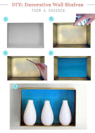 on diy shoebox wall art with diy wall shelves from a shoebox