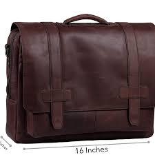 flight cabin bag 15 inch full grain leather expandable laptop briefcase for men
