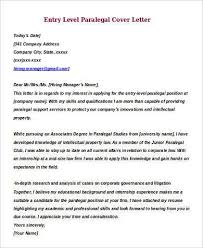 Cover Letter For Paralegal Mwb Online Co