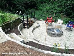 how to build an inground fire pit unique fire pit in the ground outdoor fire pit