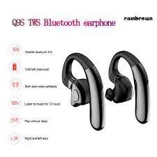 Tai Nghe Bluetooth 5.0 Không Dây Chống Nước Có Chức Năng Giọng Nói / Rej /  Q9S - Tai nghe Bluetooth chụp tai On-ear