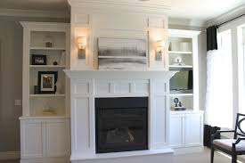 fireplace book shelves