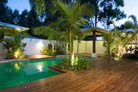 tropical outdoor lighting. tropical pool with planting beds landscape lighting outdoor s
