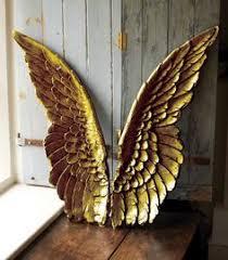 angel wings wall art sculpture plaque