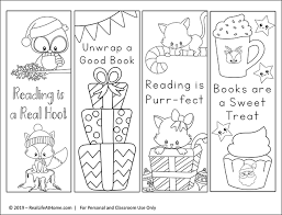 Printable bookmarks to color for adults. Free Printable Christmas Bookmarks To Color For Kids