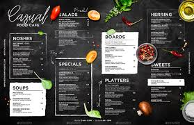 Chalkboard Menu Templates Chalkboard Cafe Menu