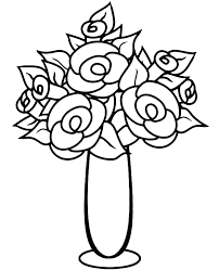 If you cannot view the picture. Bouquete Of Roses Printable Coloring Page