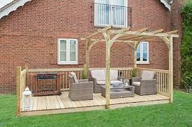 ultima pergola and patio decking kit