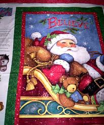 Christmas Quilt Panels - Christmas Decore & Quilt Panels Fabric Christmas Cloth Source · Easy Christmas Quilt Fabric  Panel Kit I believe in Santa Panel Backing product images Adamdwight.com