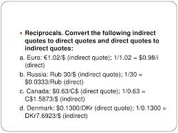 direct qoute direct and indirect quotes in forex market