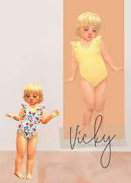 ̗̀ Vicky Swimsuit ̖́- (TS4) - Daisy Pixels