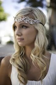 Headband Hair Style hairstyles using headbands vintage forehead bridal headband down 3690 by wearticles.com