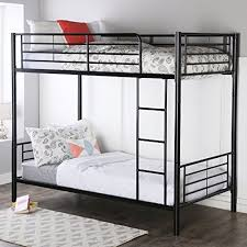 twin bunk beds for adults. Delighful For Walker Edison TwinOverTwin Metal Bunk Bed Black For Twin Beds Adults U