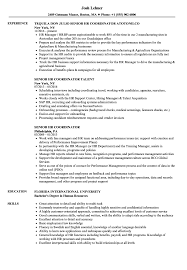 Hr Coordinator Resume Sample Senior HR Coordinator Resume Samples Velvet Jobs 8