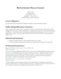 Certified Medical Assistant Resume Sample Trezvost