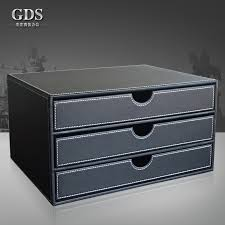 gardensun a4 3 drawer wood leather office desktop file cabinet box doent filing holder organizer stand container in file tray from office school