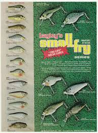 Details About 1979 Vintage Bagley Small Fry Old Fishing Lure Color Chart Original Print Ad A2