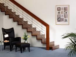 Modern stair rails - horizontal steel
