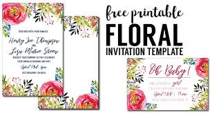 Invitation Free Templates Floral Invitation Template Free Printable Paper Trail Design