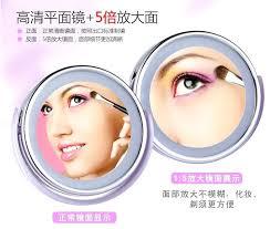 superpowder double face powder 07 matte neutral desktop led sided swivel cosmetic makeup mirror lady beauty light illum